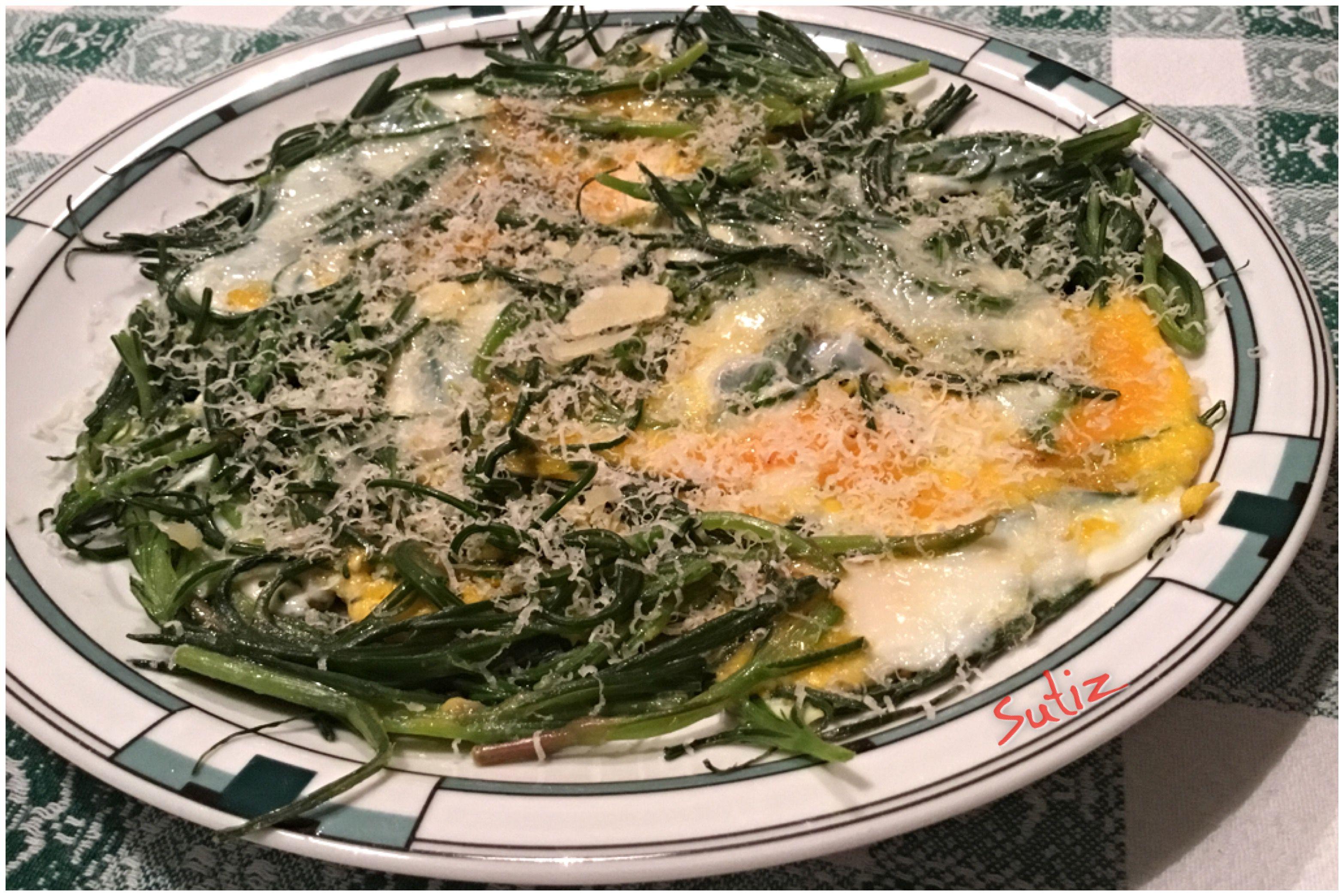 Agretti con le uova sutiz cucinare for Cucinare gli agretti